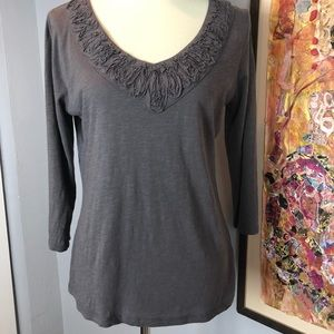 Boden Tops - Boden 3/4 sleeve tee with embellished neckline